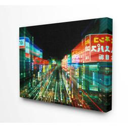 """24 In. X 30 In. """"Neon Lights In Tokyo Japan"""" By Rob Tilley /"""