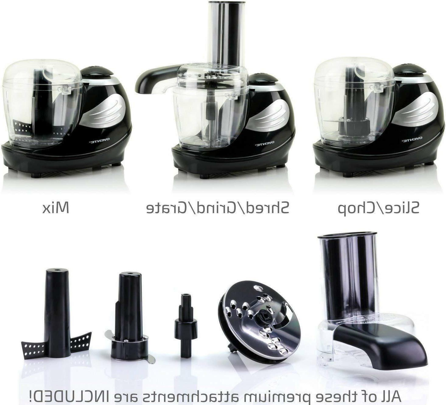 Ovente Electric Processor 1.5 Stainless Blade Black