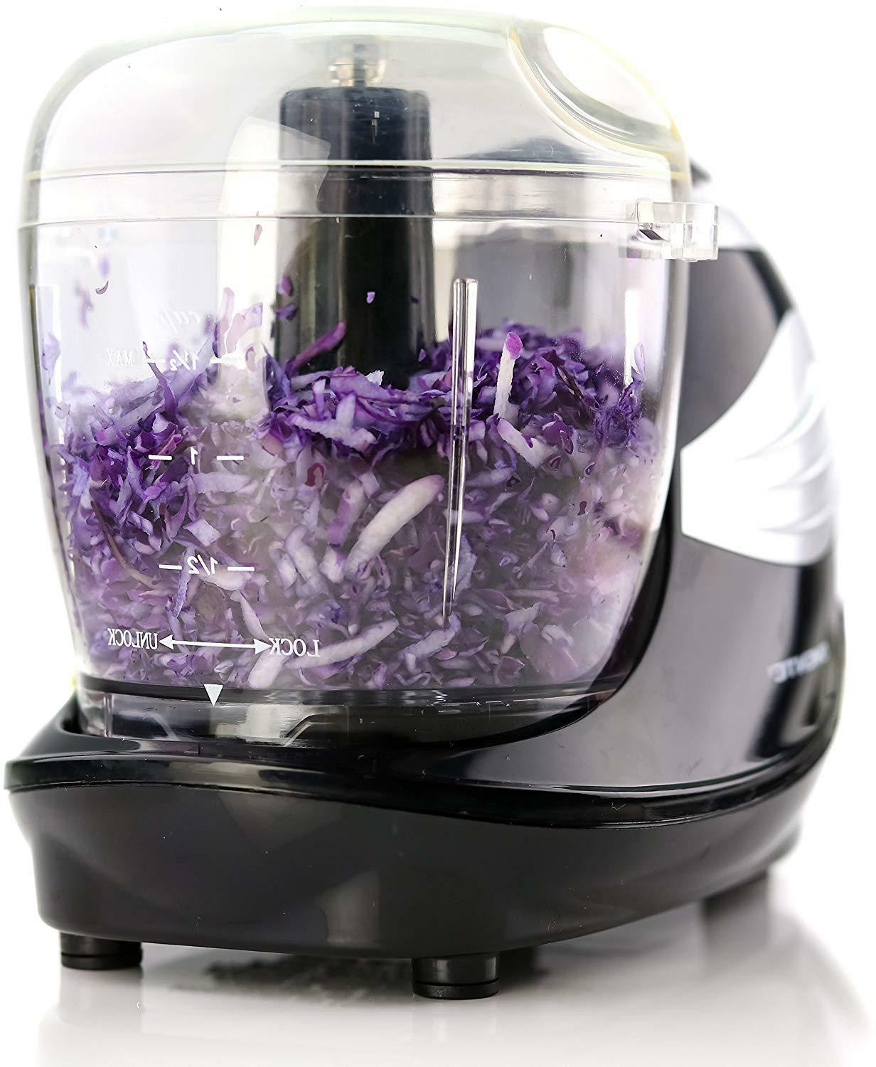 Ovente Food Processor 1.5 Stainless