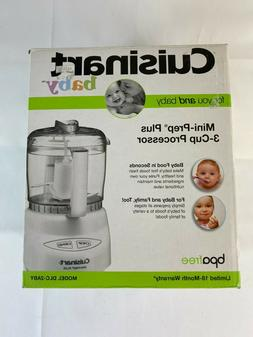 New Cuisinart Baby DLC-2ABY White 3-cup Mini Prep Plus Food
